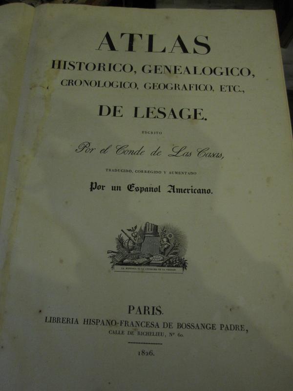 Count De Las Casas. Historical, Genealogical, Chronological, Geographic And Statistical Atlas-photo-2