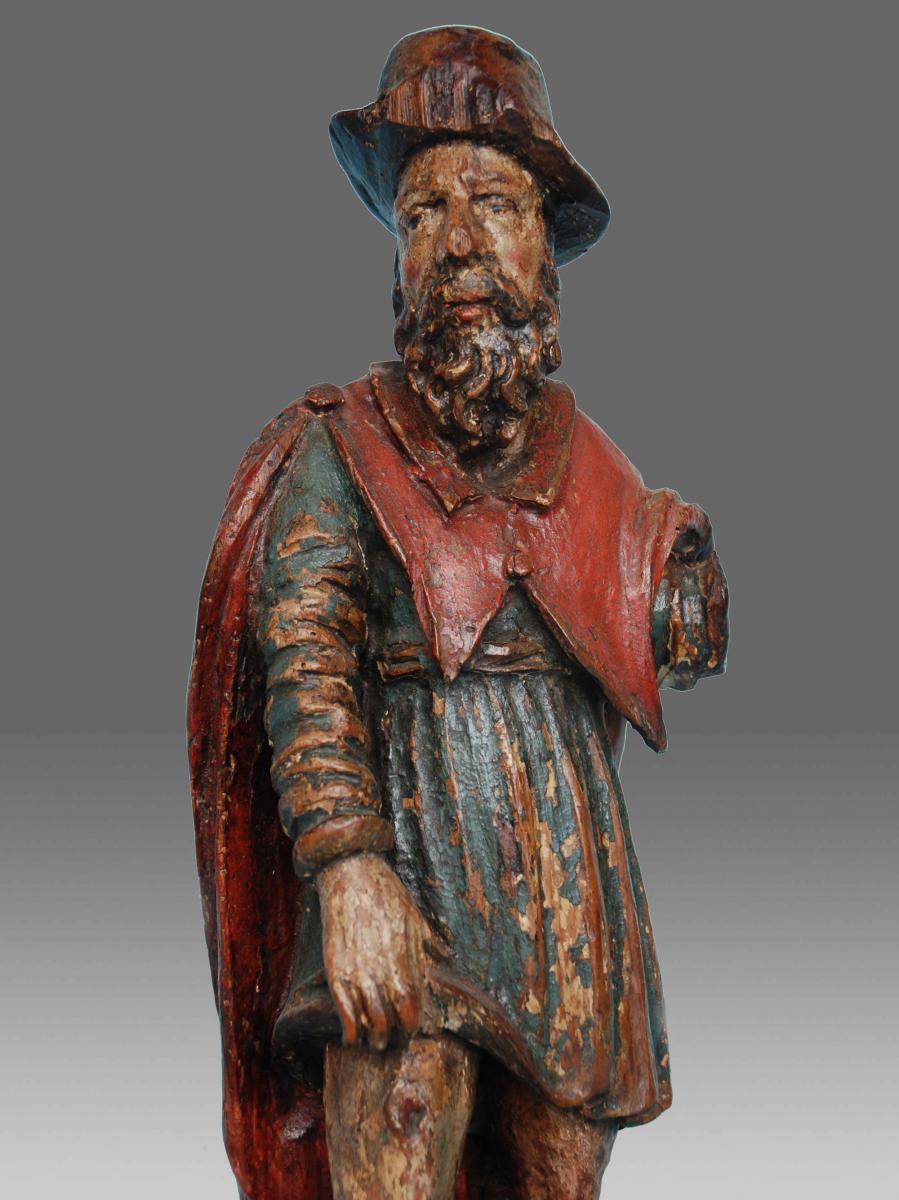 Sculptures bois Saint Rochus Debut 17eme Siecle