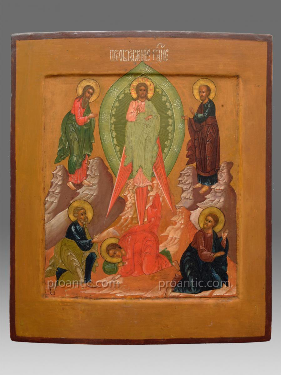 Icône Transfiguration Du Christ Russie Vers 1860