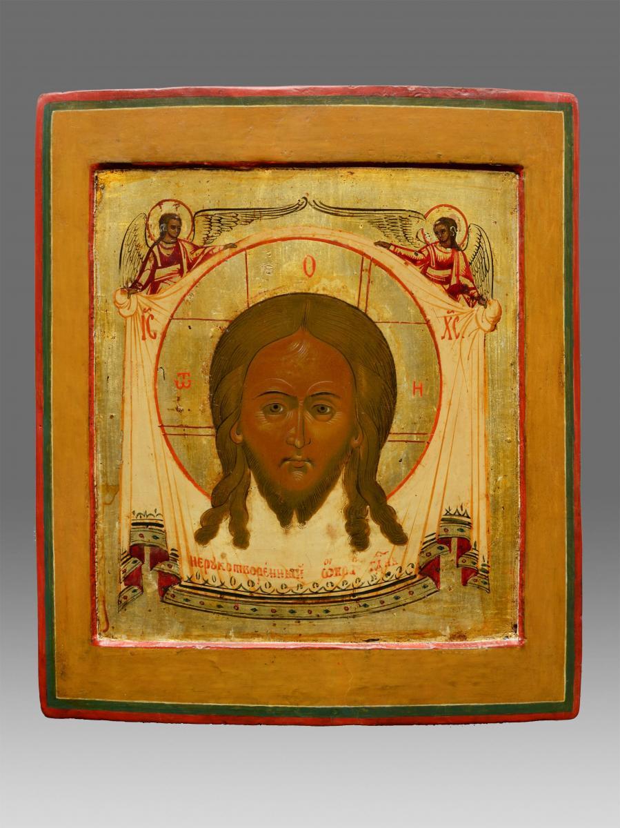 Icône Mandylion Christi Vers 1800 -icon Icone Ikone