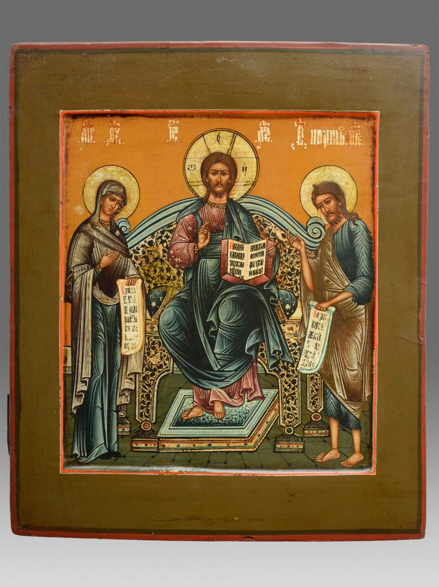 Deesis Icon About 1850-70 Russia - Icon Icons Ikone