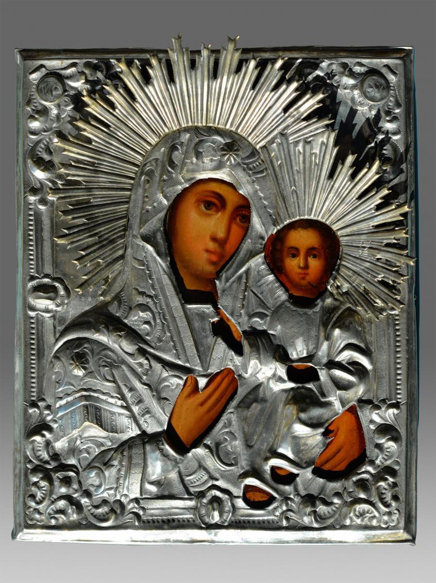 Icône Smolenskaja Fin XIX siècle Russe -Icon Icone Ikone