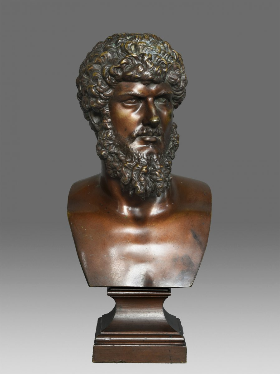 Bronze Bust Of Emperor Lucius Verus About 1860