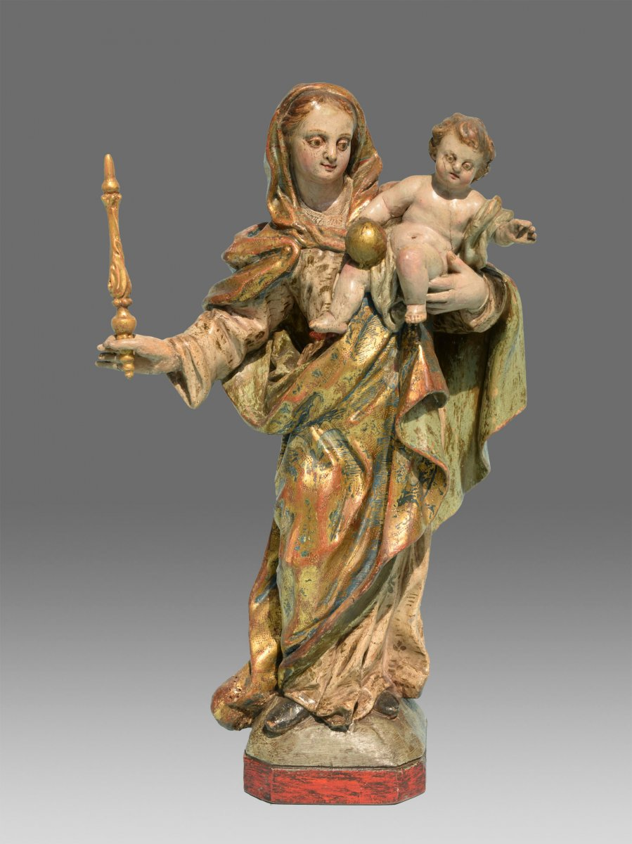 Virgin And Child Italy 18th Century