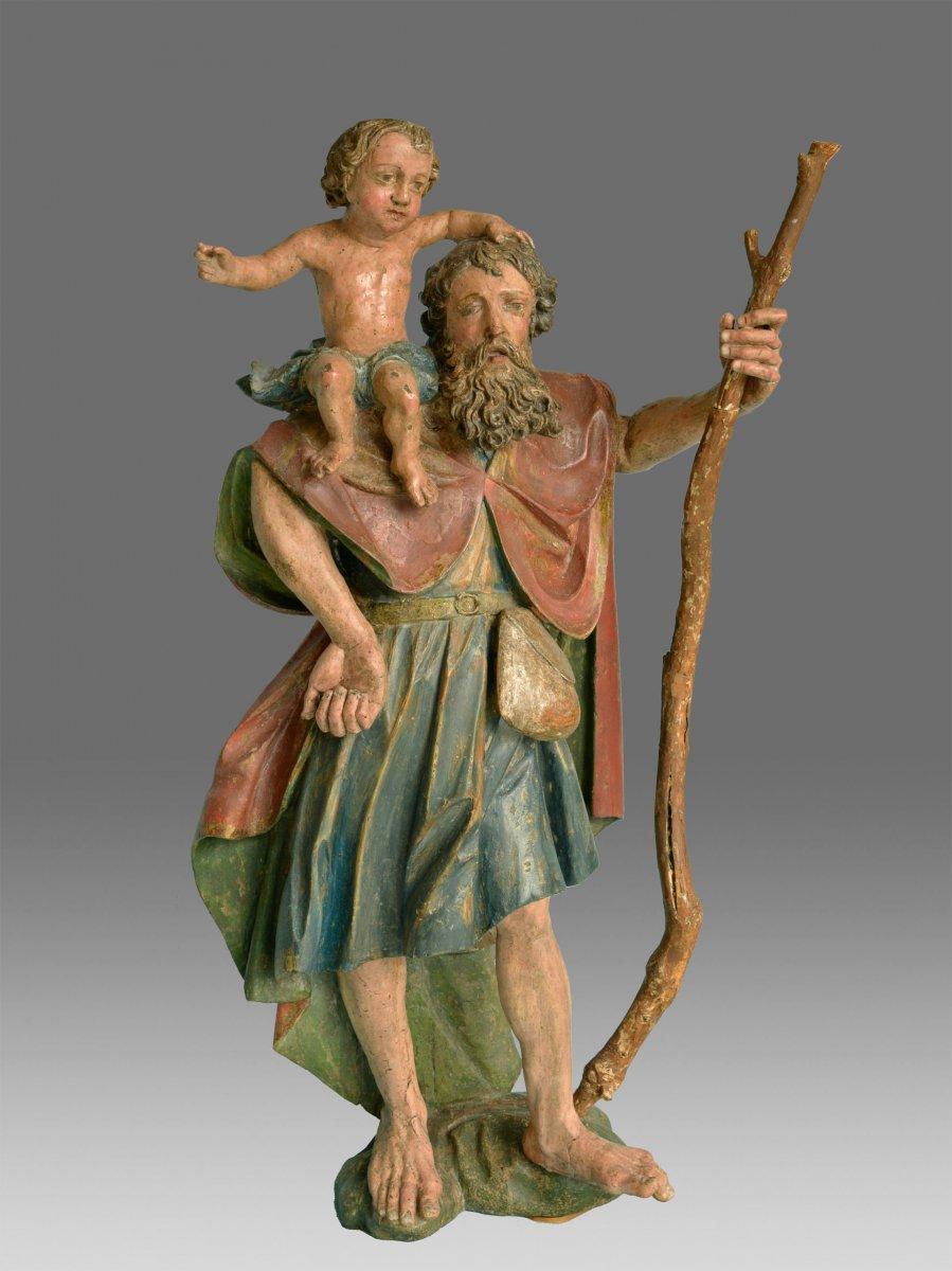 Sculpture Saint Christophe Southern German Renaissance