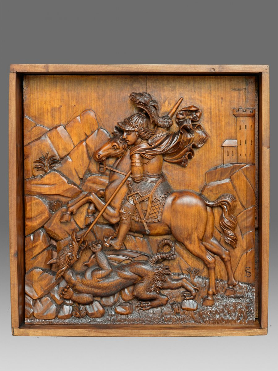 Relief Saint George 19th Century
