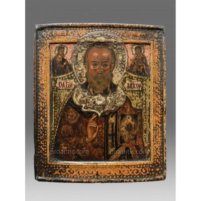 Icone De Saint Nicolas vers 1680