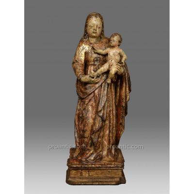 Vierge a L´Enfant Italie 2 Nd Moitié 16eme Siècle