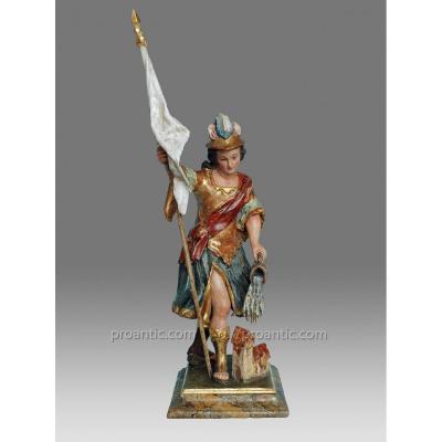 Sculptures Saint Florian Italie Vers 1780