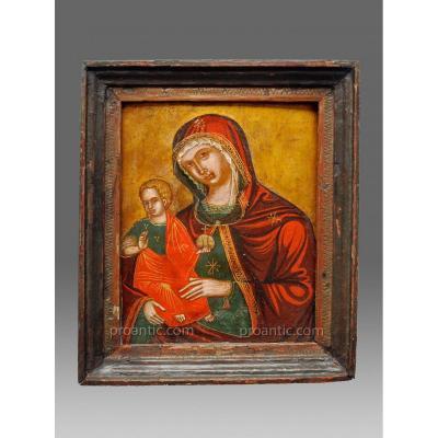 Icône  Madre Della Consolatione Vers 1700 - Icon Icone Ikone