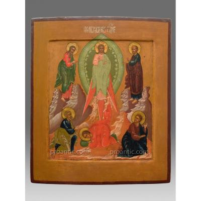 Icon Transfiguration Of Christ  Russia About 1860