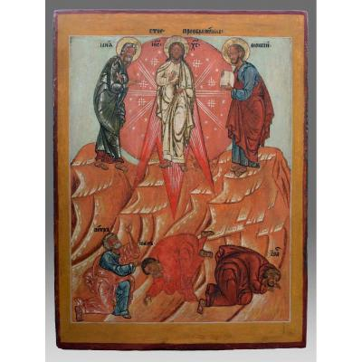 Icon The Transfiguration Of Christ Late 17 Eme Siecle - Icon Icone Ikone