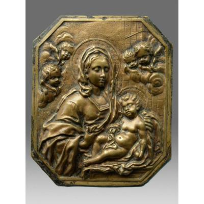Virgin And Child About 1600 Italy