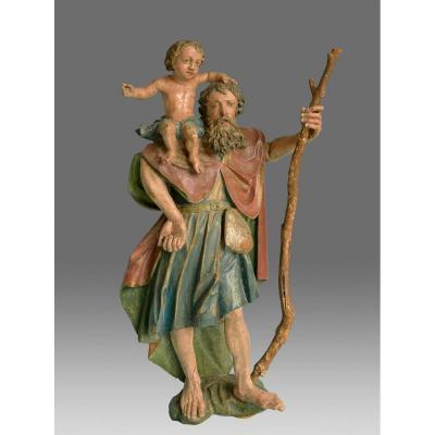 Sculpture Saint Christophe Allemagne Vers 1580