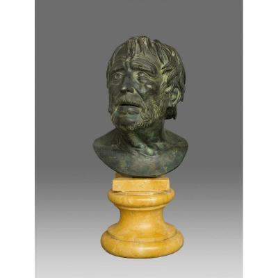 Buste Seneca Sénèque Italie 19ème Siècle