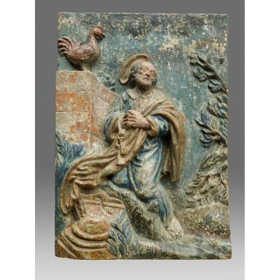Sculpture Apôtre Saint Pierre Vers 1730
