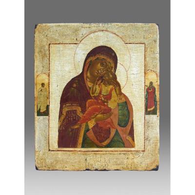 Icône/icone /icon Glykophilousa Russie Debut 18ème Siècle