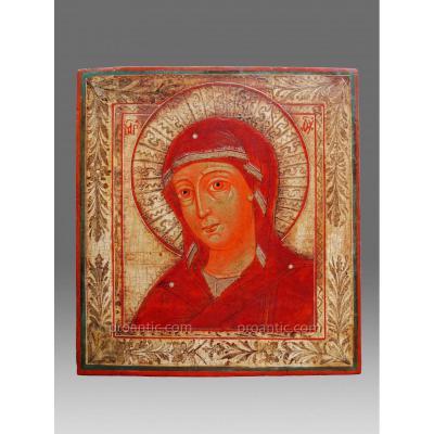 Icône Russe Vierge 19 éme siècle -Icon Icone Ikone