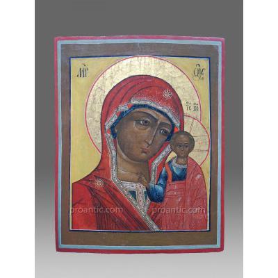 Icône Kazanskaja Russie vers 1850 -Icon Icone Ikone