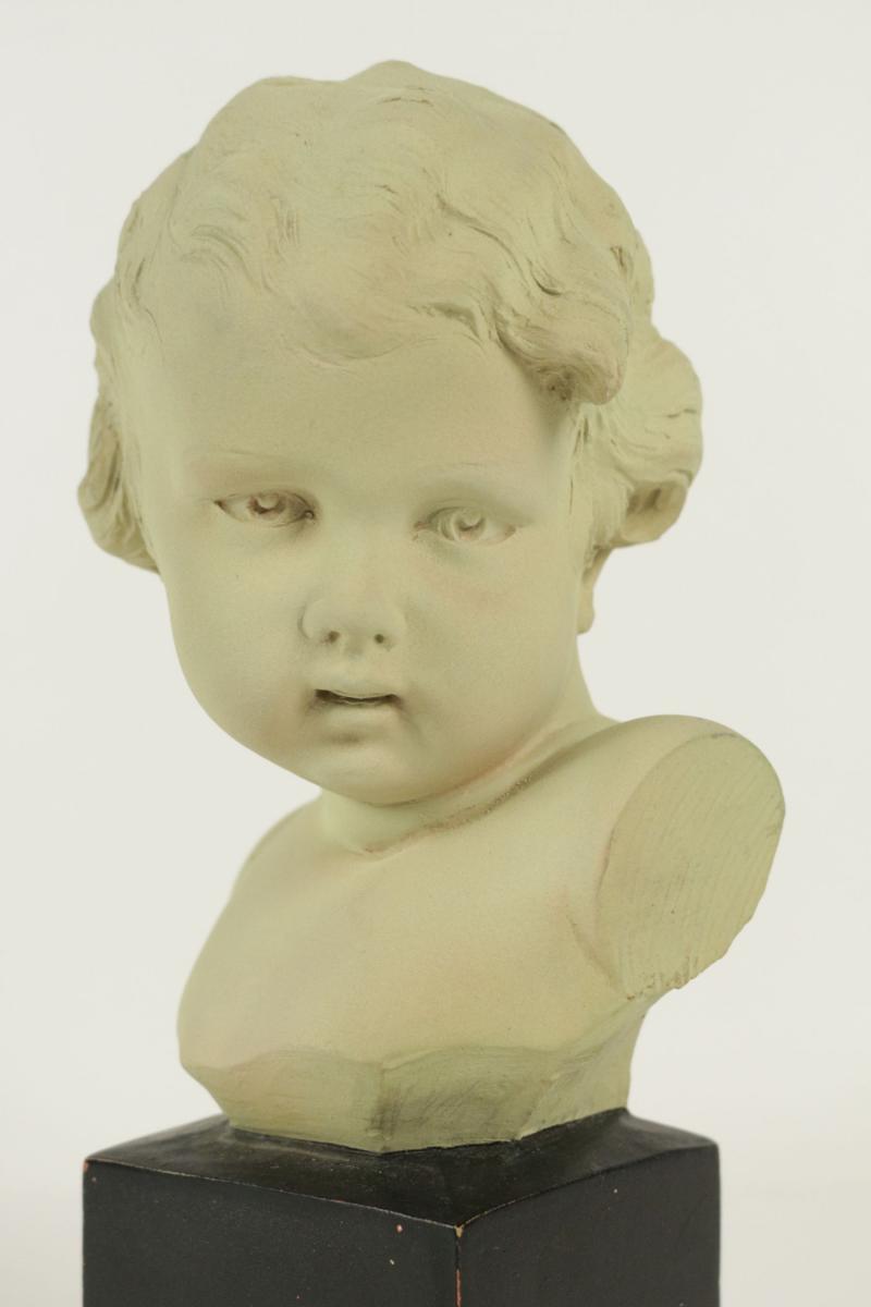 Buste d 39 enfant en terre cuite d but xx me si cle sign for Gobet meubles