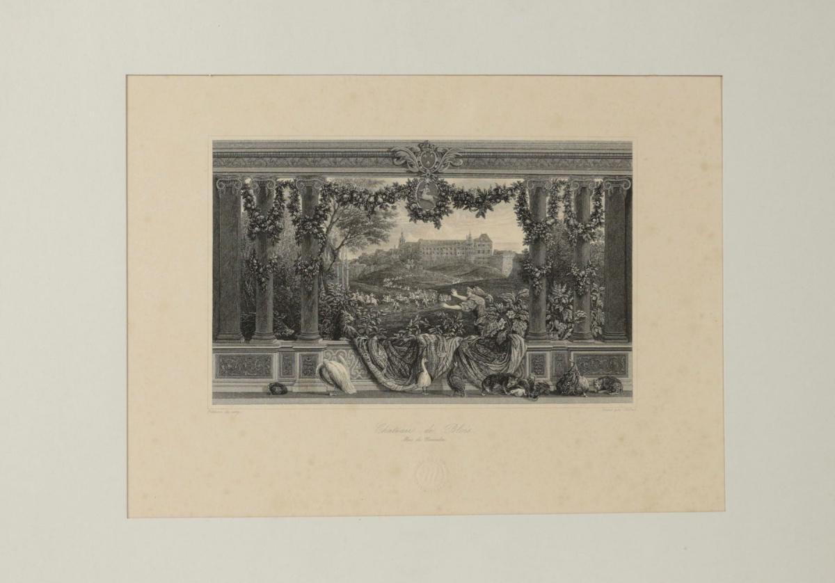 Paire De Gravures Représentant Le Château De Blois Et Le Château De Vincennes .