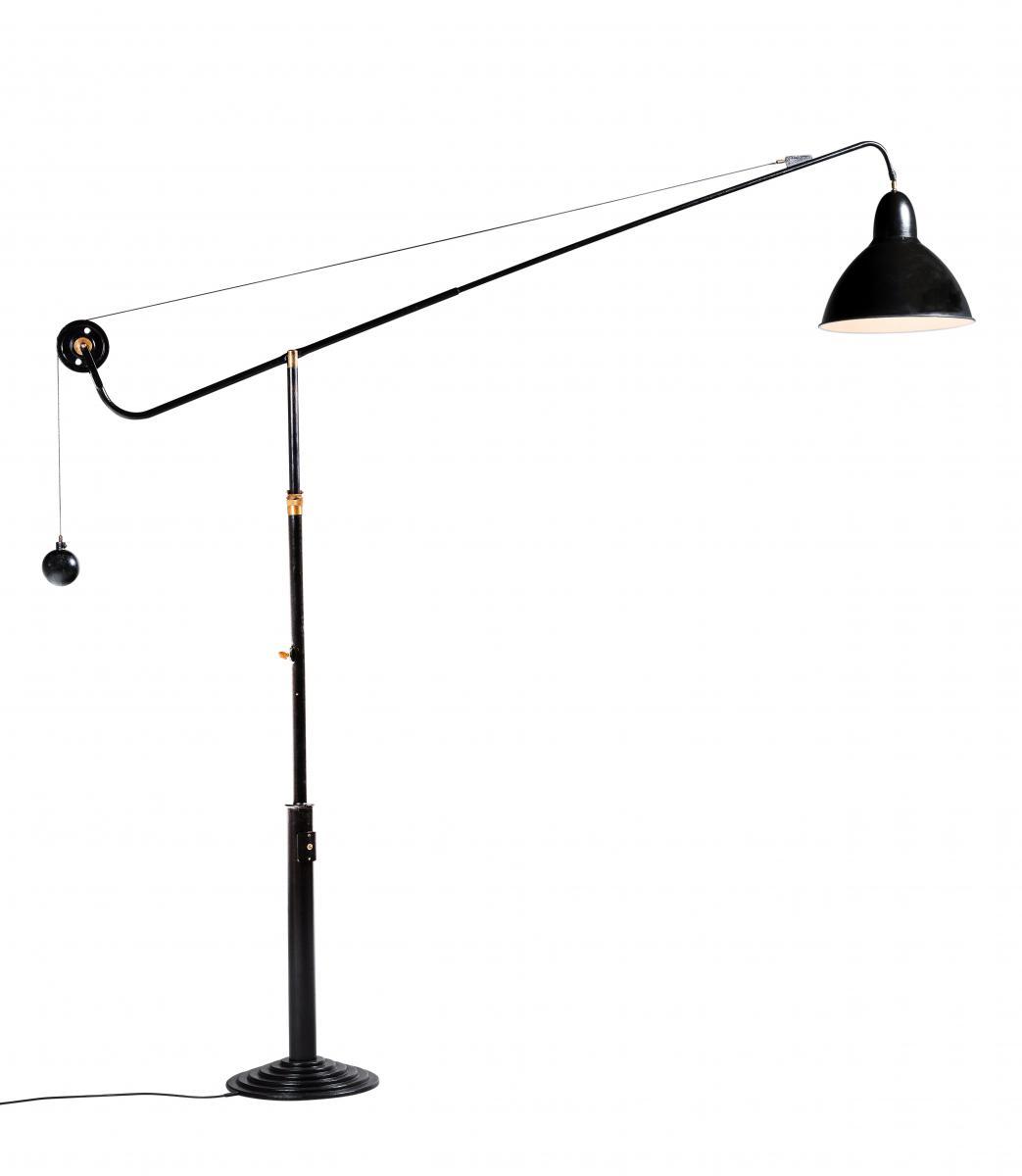 Lampe d'Architecte, Modèle 1900 Sur Pied, Télescopique