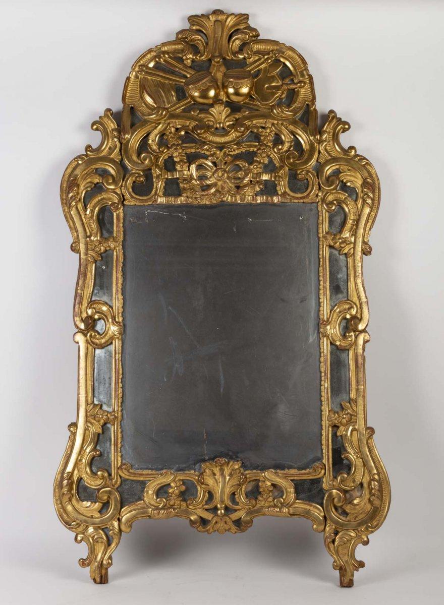 Miroir Epoque Louis XV, 18ème Siècle, Sud De La France, à Parcloses, Glace Au Mercure