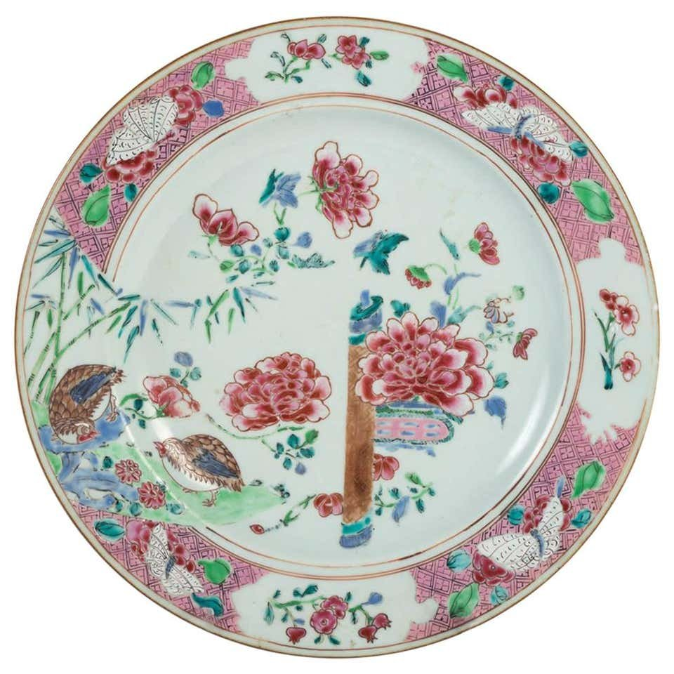 Plat En Porcelaine De Canton, XVIIIème Siècle