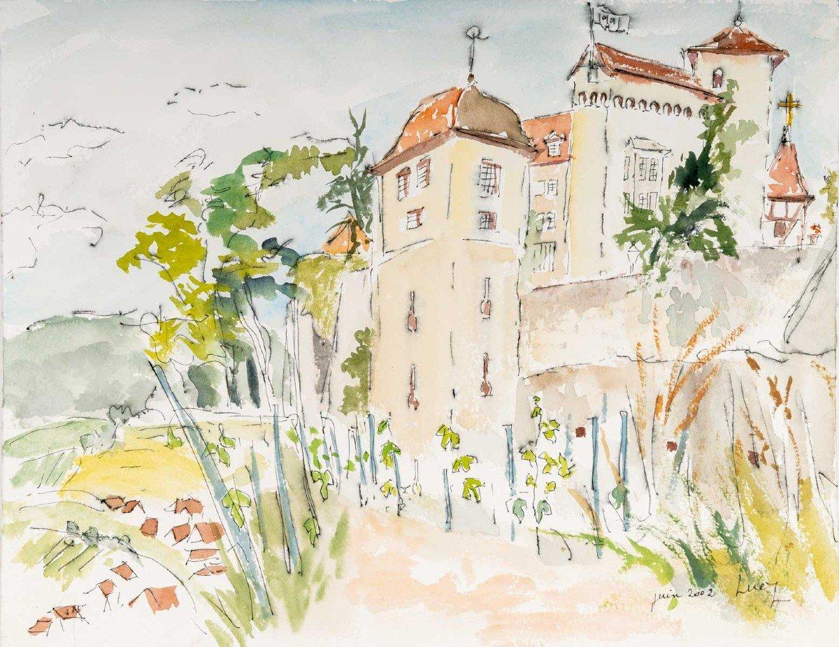 Watercolor On Luez Paper