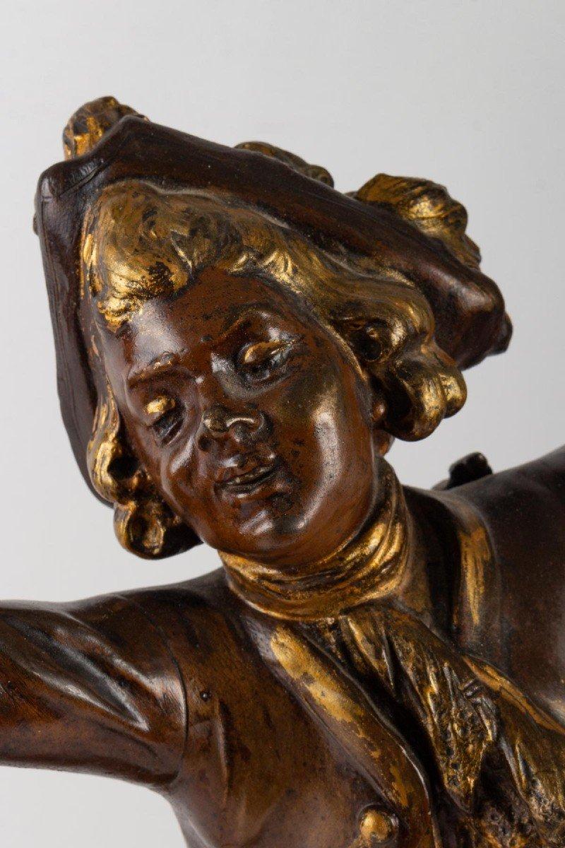 Sculpture En Régule De August Moreau-photo-4