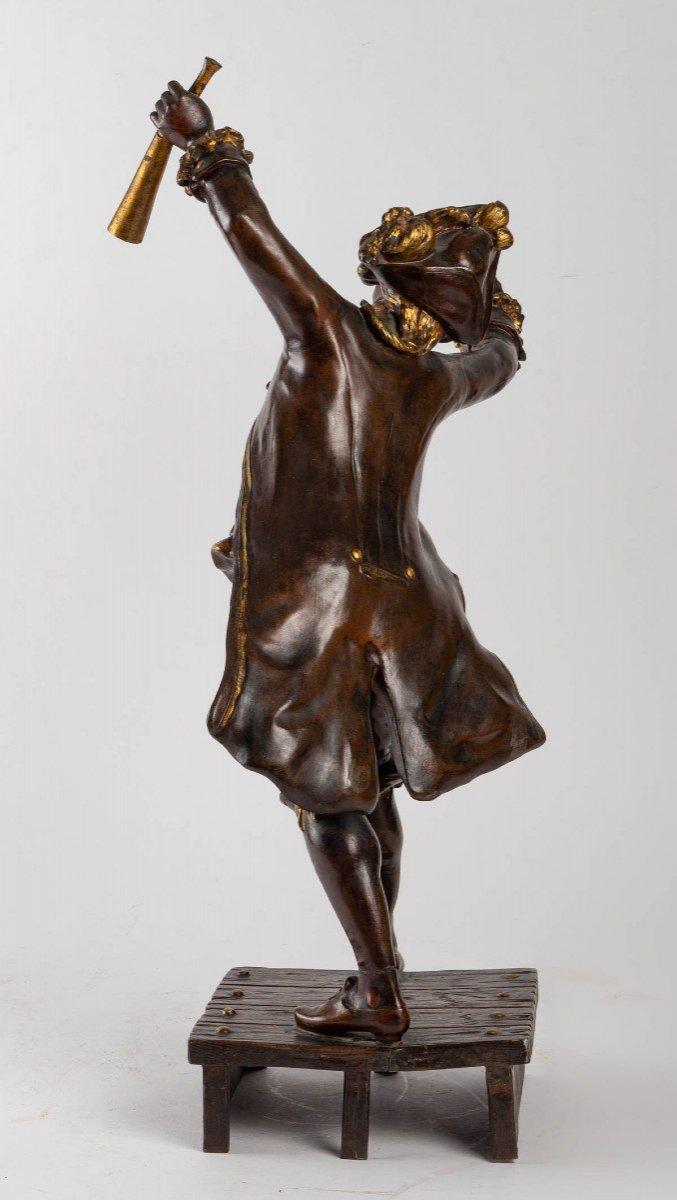 Sculpture En Régule De August Moreau-photo-2
