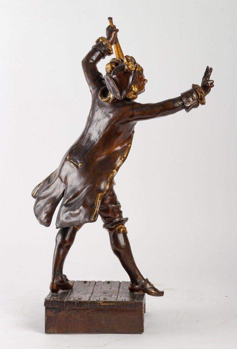 Sculpture En Régule De August Moreau-photo-3