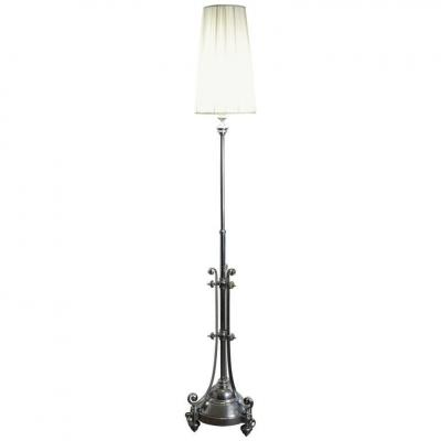 Floor Standing Lamp En Chrome From The Beginning Of The 20th Century In The Style Of Louis XVI