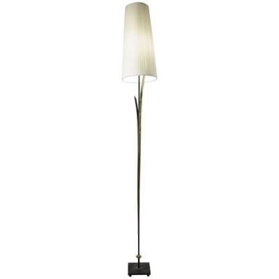 Tall Floor Lamps From The 1980s In Painted Gold Metal