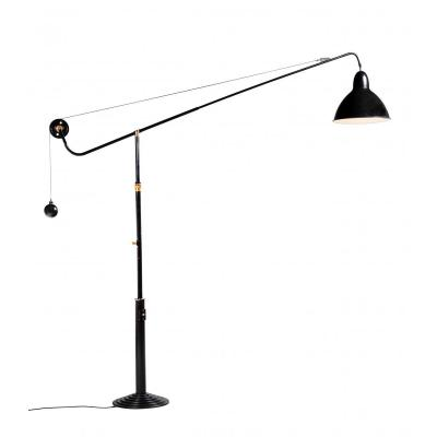 Lampe d'Architecte, Modèle 1900 Sur Pied, Télescopique, Tournant à 340°