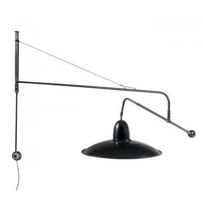 Lampe d'Architecte Murale, Double, Pivotante, Modèle 1900