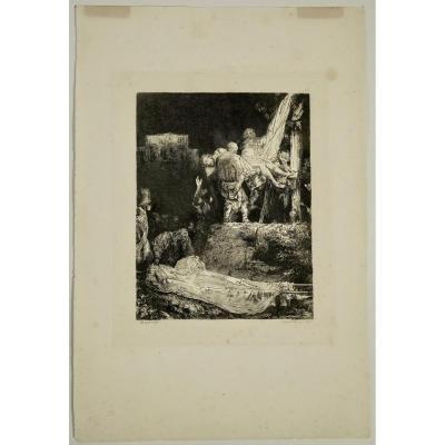 Gravure, XIXème Siècle, Représentant Une Peinture De Rembrand, Par Francesco Novellsine, 1992