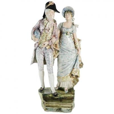 Ceramic Couple Representing Two Incredibles. C.1900