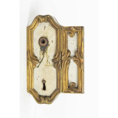 Door Lock, Large Decoration, 19th Century, With Key