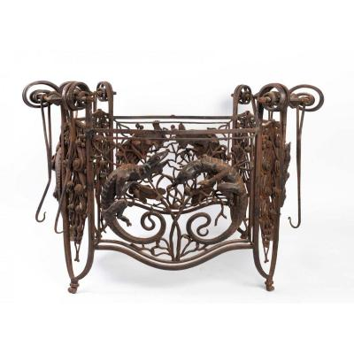 Raymond Subes (1891-1970), Important Cage De Lustre, Capable Of Making A Beautiful Low Table.