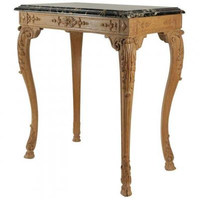 Small Oak Center Table Carved, Louis XV Style