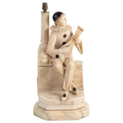 Lampe De Table Pierrot Avec Une Mandoline