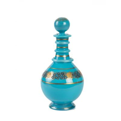 Carafe In Turquoise Blue Opaline
