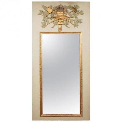 Miroir Grand Trumeau En Bois Sculpté, En Partie Du 18ème Siècle