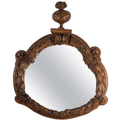 Important Miroir En Noyer