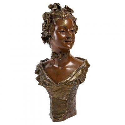 Sculpture En Bronze De Georges Van Der Straeten