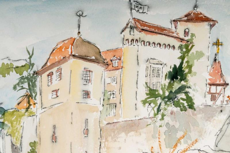 Watercolor On Luez Paper-photo-3