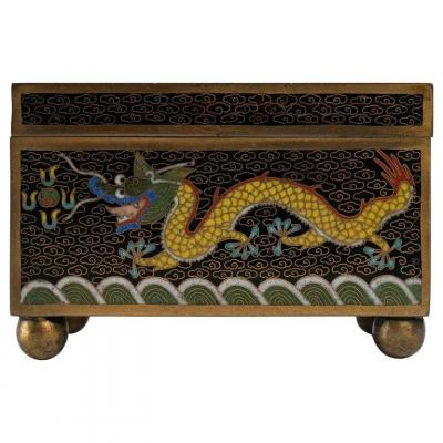 Metal Box Decorated With Cloisonné Enamels