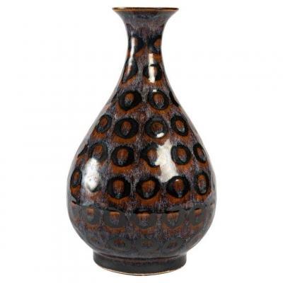 Vase En Grés émaillé à Rare Décor