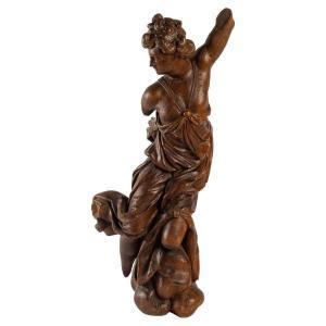 Sculpture En Bois Sculptée Du XIXème Siècle